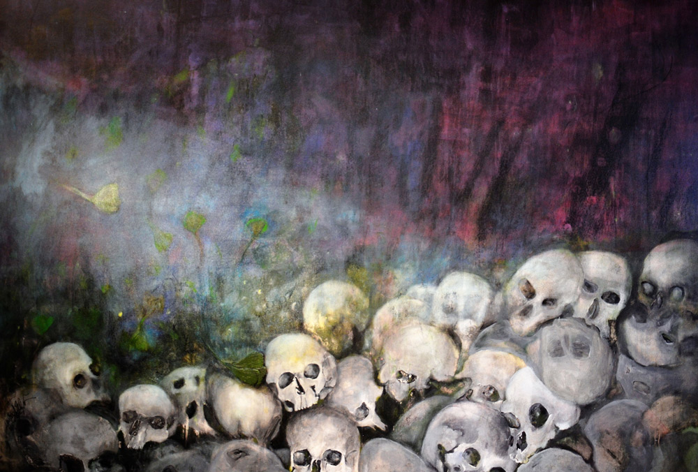 """Das letzte Kapitel""; 2017/18; Acryl /Leinen; 140 x 210 cm"